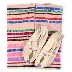 Native American Mulicolored Moccisons & Leggings