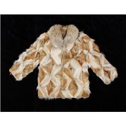 Ladies Genuine Blonde Mink Fur Coat