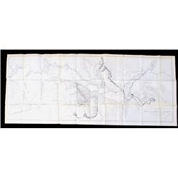 1853 Survey Map for Railroad From MT to Pacific