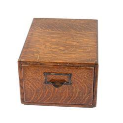Small Oak Filing Cabinet