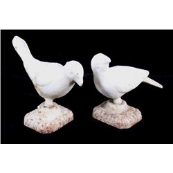 Two French Cast Iron Turtle Doves