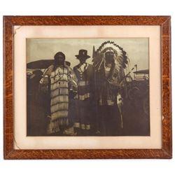 Original Harmon Percy Marble Framed Photograph