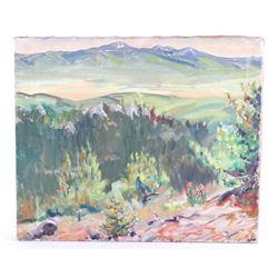 Original Carl Tolpo Four Mile Canyon Oil on Canvas