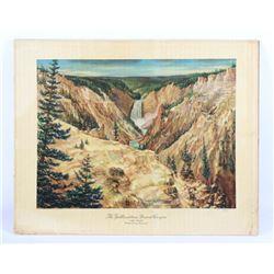 Carl Tolpo Yellowstone-Grand Canyon Original Litho
