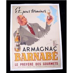 1946 Armagnac Barnabe D'Amour Liquor Ad. Poster