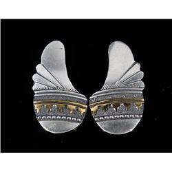 Thomas Singer Sterling Silver & Gold Earrings