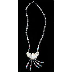 Navajo Mother of Pearl Carved Eagle Necklace