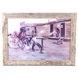 """""""Death of a Gambler"""" Charles Russell Framed Print"""