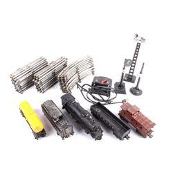 Lionel Train Engine, Cars, Track, & Controller