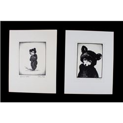 Two Early Original Olive Fell Etchings c. 1930's