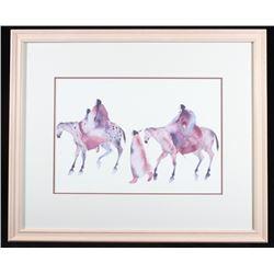 Carol Griggs Native American Women on Horses Print