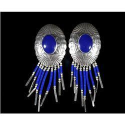 Navajo Sterling Silver & Lapis Lazuli Earrings