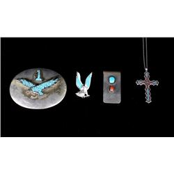 Assortment of Silver & Multi Stone Jewelry
