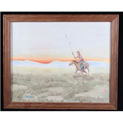 Signed Alderman Native American Original Painting