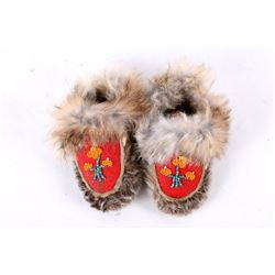 EARLY 1900s Native American Eskimo Child Moccasins