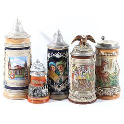 Traditional German Beer Stein Assortment