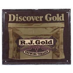 Discover Gold Metal Tobacco Advertising Sign