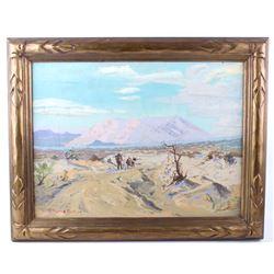 Original R. Thomas Platt Framed Oil Painting; 1929