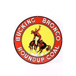 Bucking Bronco Roundup Coal County Metal Sign
