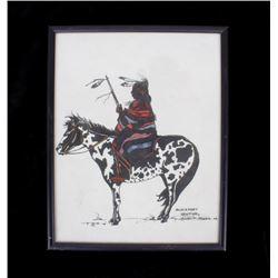 Blackfoot Sentinel Framed Painting