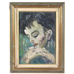 Signed Painting of Judy Garland By Janet Arnold