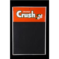 Mid 1900's Orange Crush Chalkboard Menu