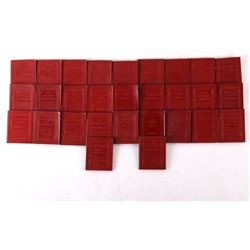 Collection of 29 Little Red Leather Library Books