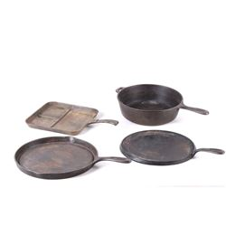 Collection of Cast Iron Stovetop Griddle & Skillet