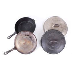 Collection of Wagner Ware Cast Iron Skillets