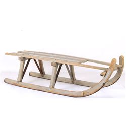 Early Traditional Norwegian Sledge Wooden Sled