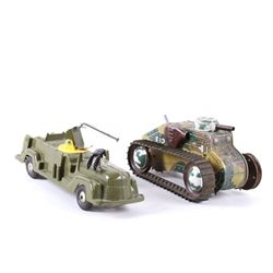 Mid 20th century MAR Toys Military Tank and Truck