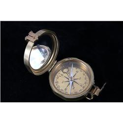 "Natural Sine Stanley London 3"" Brass Compass"