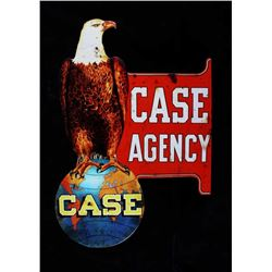 Case Agency Tin Advertising Sign