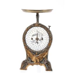 Early 20th Century Hella Cast Iron Weight Scale