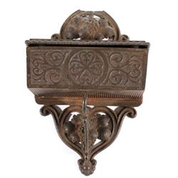 Victorian Cast Iron Hanging Match Safe