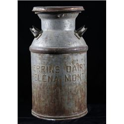 Herrins Dairy Helena Montana Metal Dairy Canister