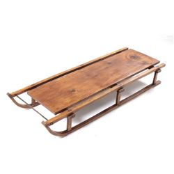 Antique Davos-Style Wooden Sledge
