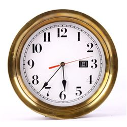 "Brass Rimmed 12"" Porthole Clock"