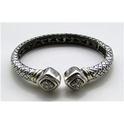 THICK STERLING CUFF/BRACELET LOOKS NEW!