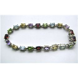 GORGEOUS STERLING BRACELET WITH MULTI
