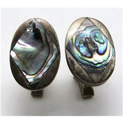 MEXICO STERLING ABILONE CUFF LINKS