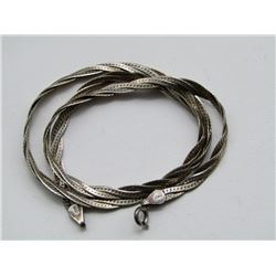 ITALY STELRING NECKLACE WITH BRAIDED DESIGN