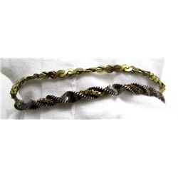 2-ANTIQUE STERLING BRACELET WITH DIFFERENT