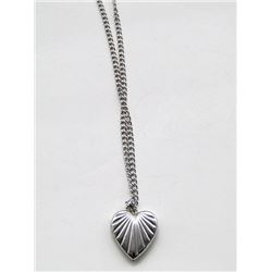 STERLING CHAIN WITH STERLING HEART LOCKET