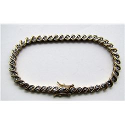 STERLING GOLD TONED BRACELET WITH CLEAR