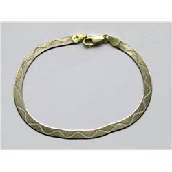 ITALY STERLING GOLD TONED BRACELET