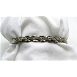 MEXICO STERLING BANGLE WITH BRAIDED DESIGN