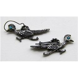 NAVAJO STERLING BIRD DANGLY EARRINGS