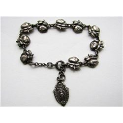 ANTIQUE RELIGIOUS PANEL BRACELET WITH VIRGIN