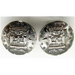1970 MEXICO STERLING CUFF LINKS